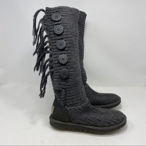 UGG Women's Dark Gray Winter Boots Size 6 A107